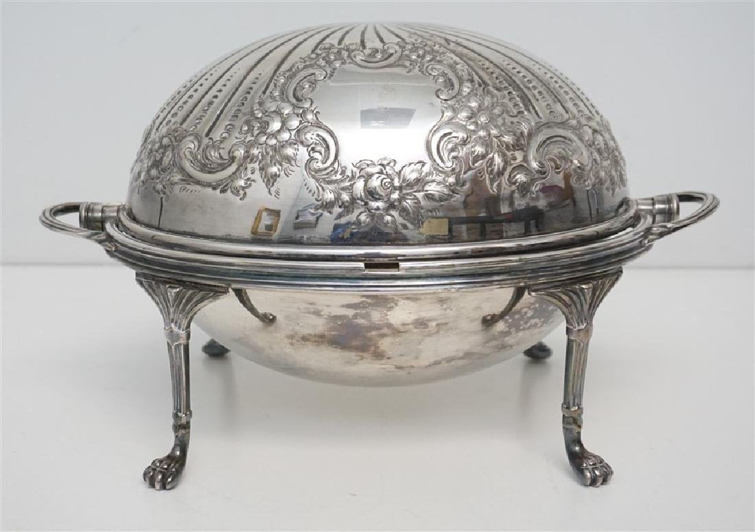 ATKIN BROTHERS SILVER PLATED COVERED SERVER - 6