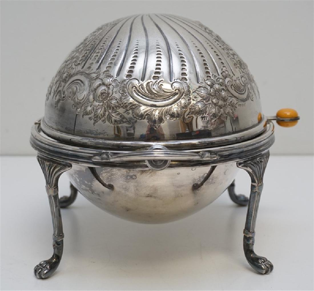 ATKIN BROTHERS SILVER PLATED COVERED SERVER - 9