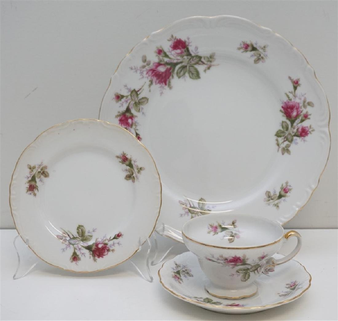 23 PC UCAGO OLD ROSE CHINA