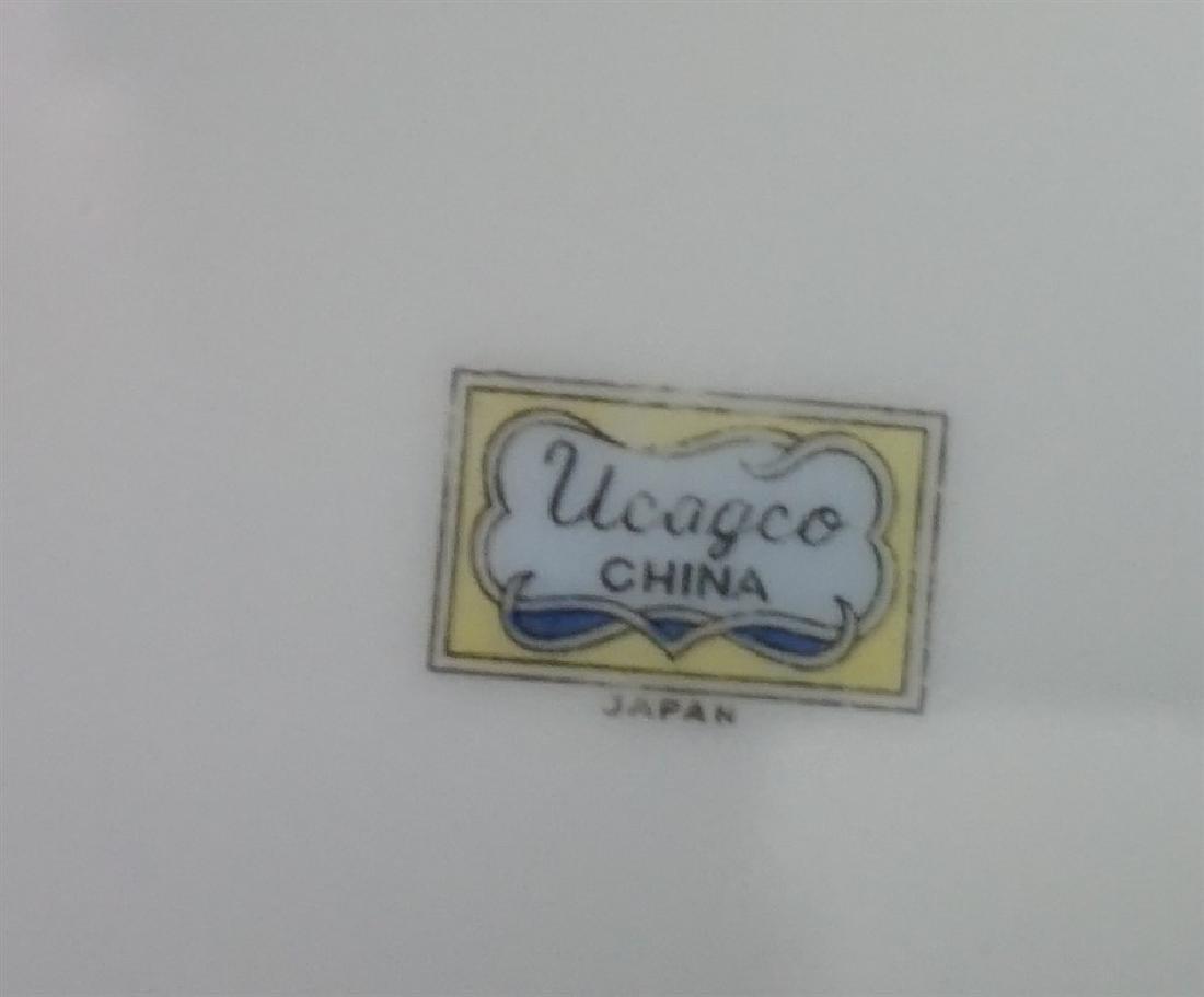 23 PC UCAGO OLD ROSE CHINA - 6