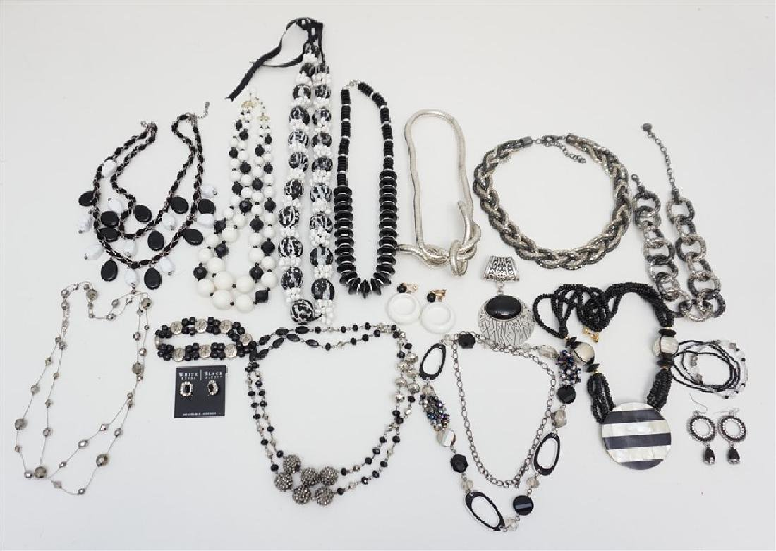 17 PC BLACK & WHITE FASHION JEWELRY