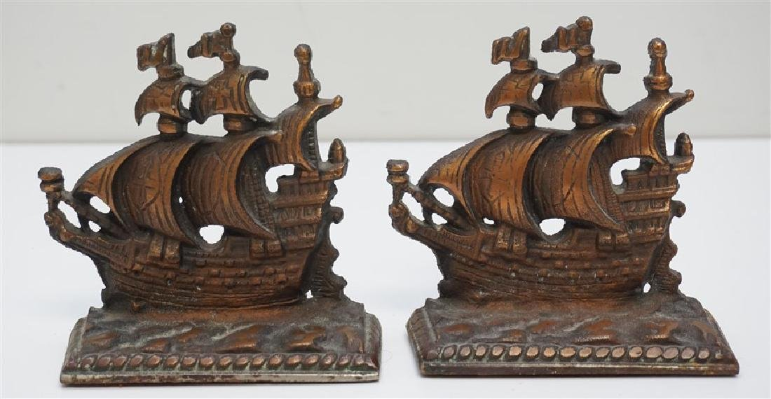 VINTAGE SPANISH GALLEON BOOKENDS
