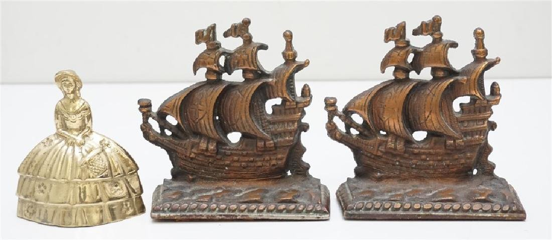 VINTAGE SPANISH GALLEON BOOKENDS - 5
