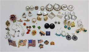 42 PC COLLECTION EARRINGS  BROOCHES