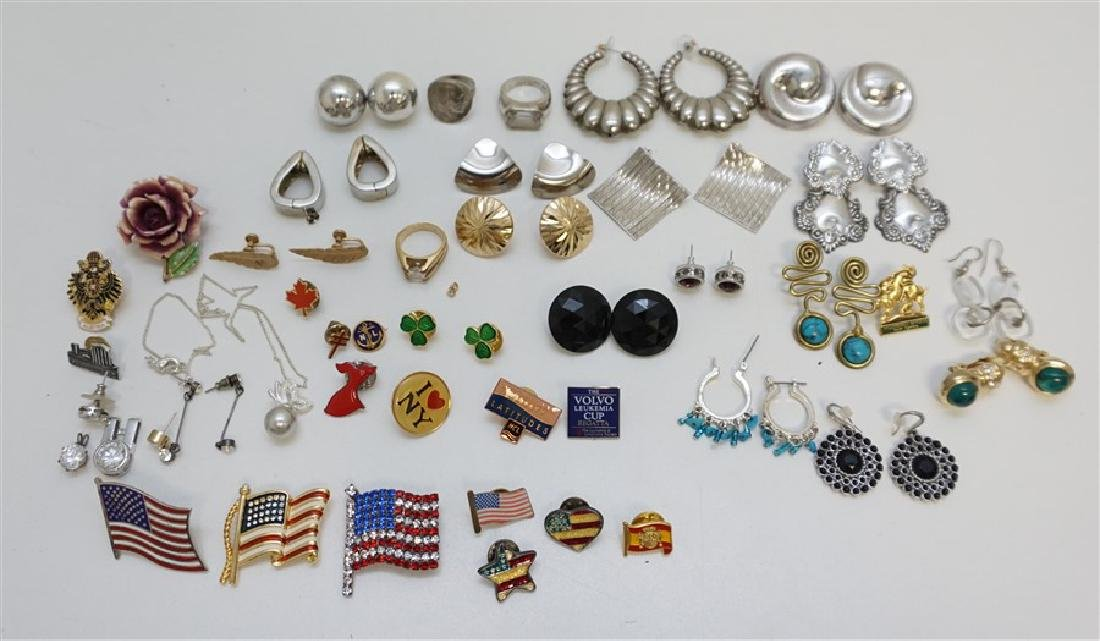 42 PC COLLECTION EARRINGS & BROOCHES
