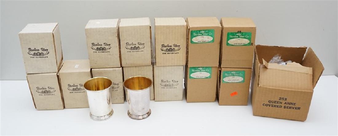 16 SHERIDAN SILVER PLATE JULEP CUPS