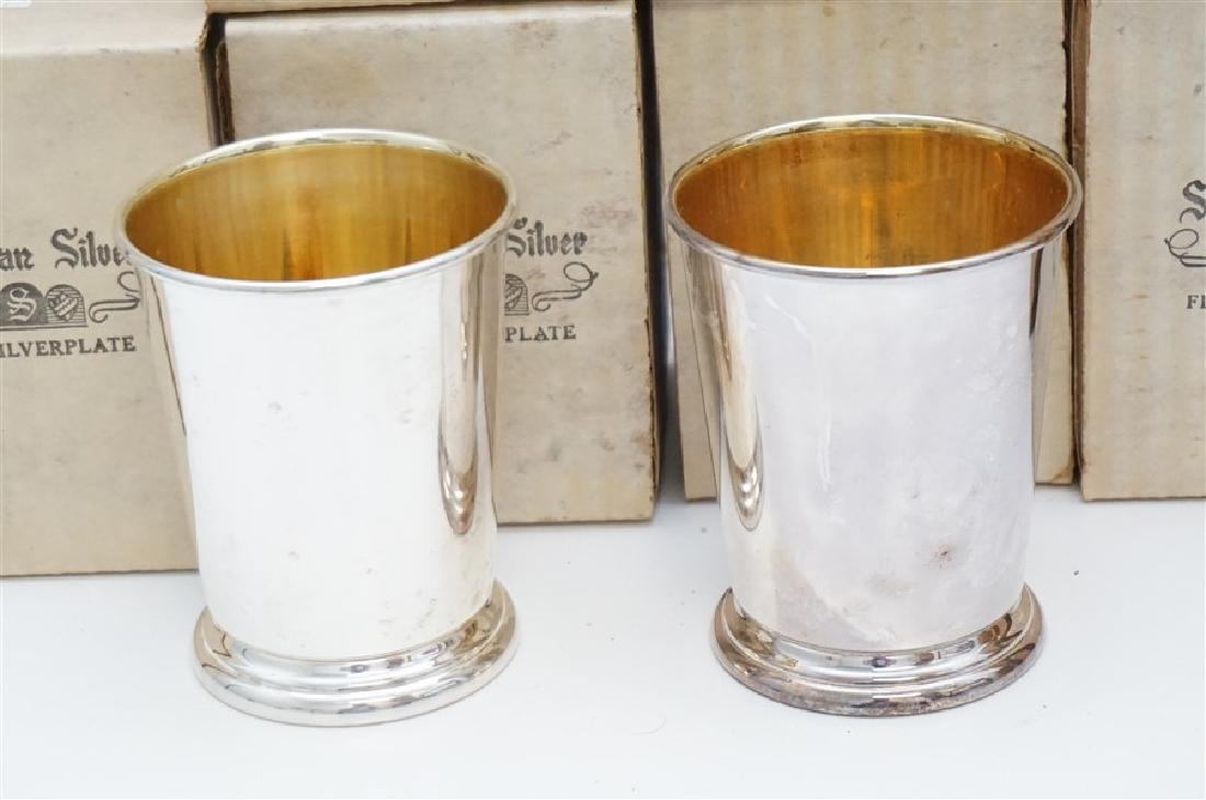 16 SHERIDAN SILVER PLATE JULEP CUPS - 2