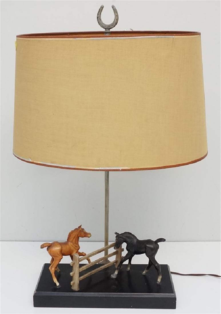 BREYER HORSE COLTS TABLE LAMP