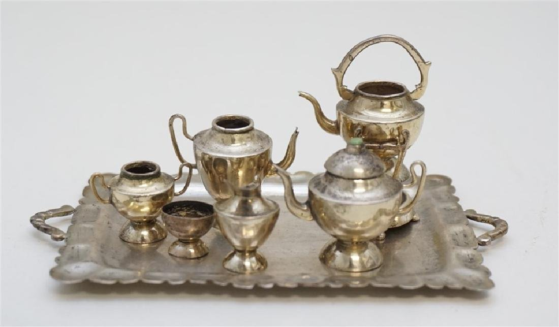 MINIATURE STERLING SILVER TEA SERVICE