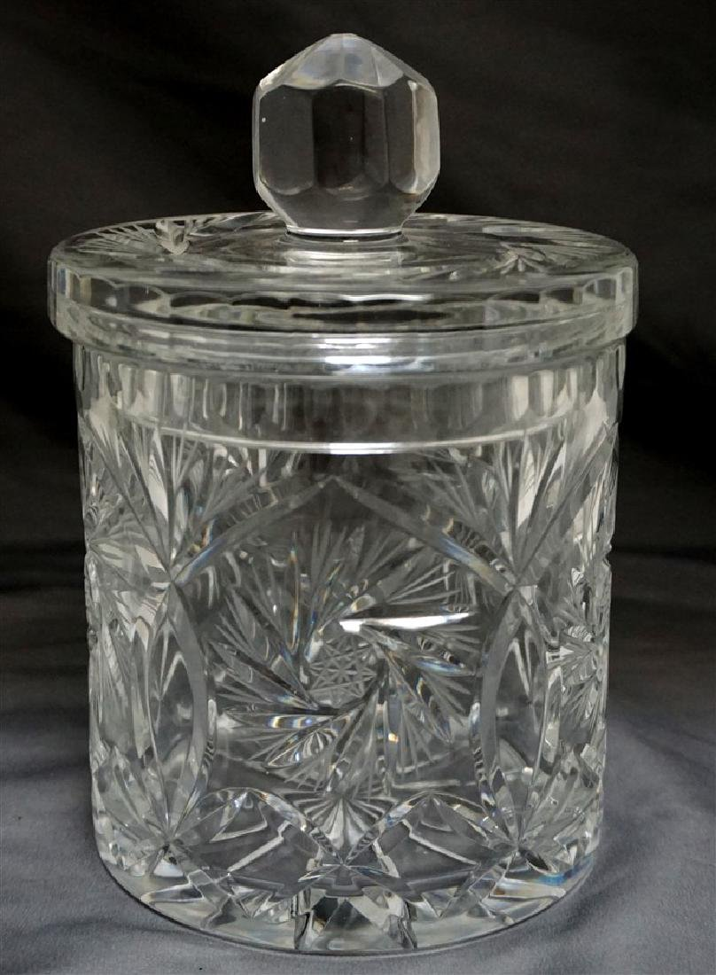 CUT GLASS BISCUIT / CRACKER JAR