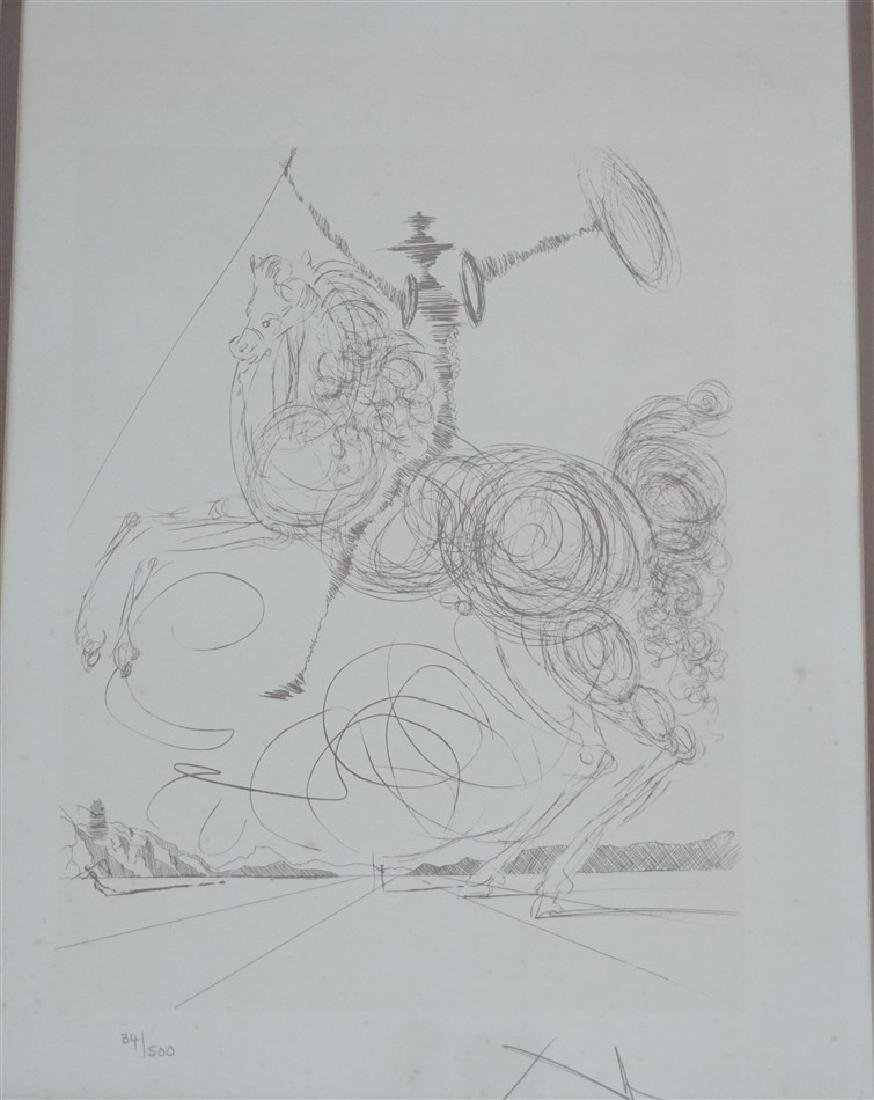 SALVADOR DALI  c 1977 DON QUIXOTE LITHO