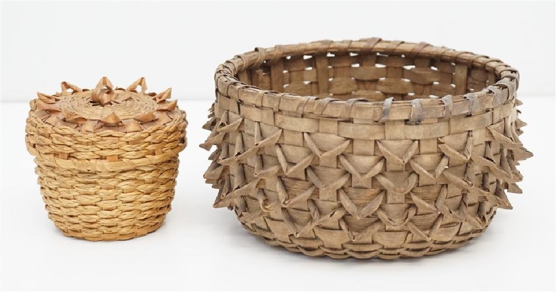 2 MICMAC BROWN ASH BASKETS