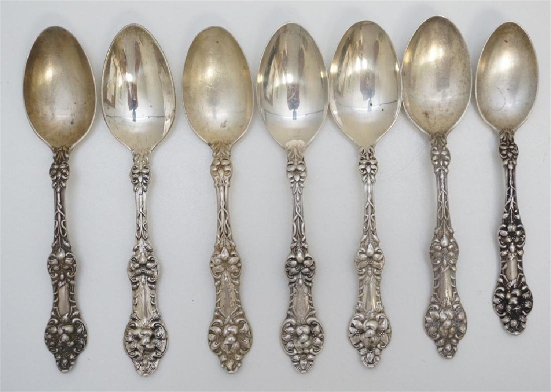 7 STERLING ORANGE BLOSSOM TEASPOONS