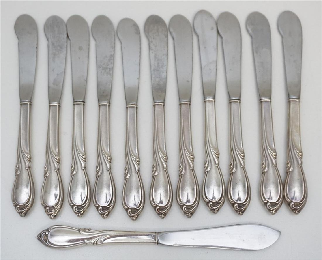12 pc STERLING SILVER RHAPSODY BUTTER