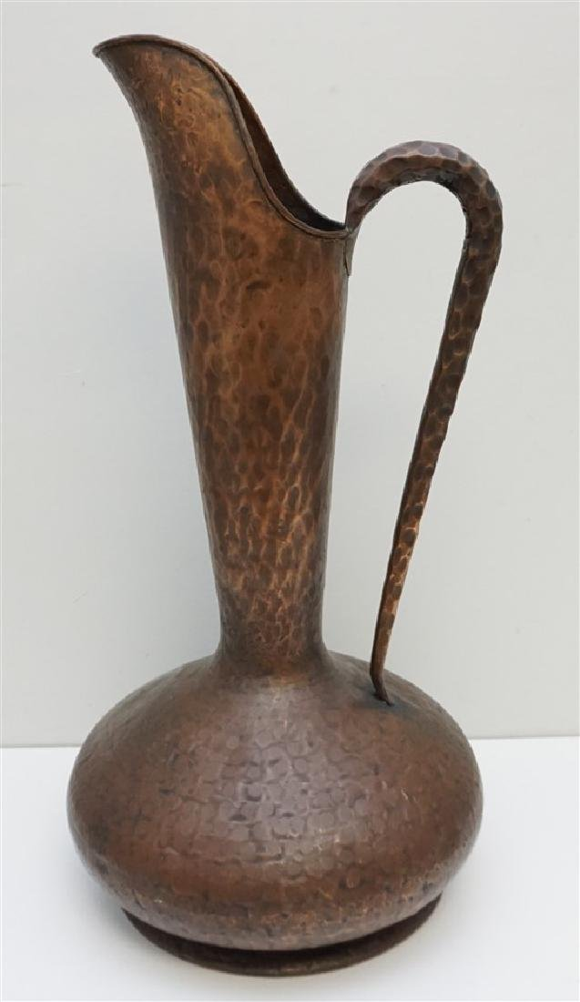 LARGE ITALIAN HAMMERED COPPER PITCHER