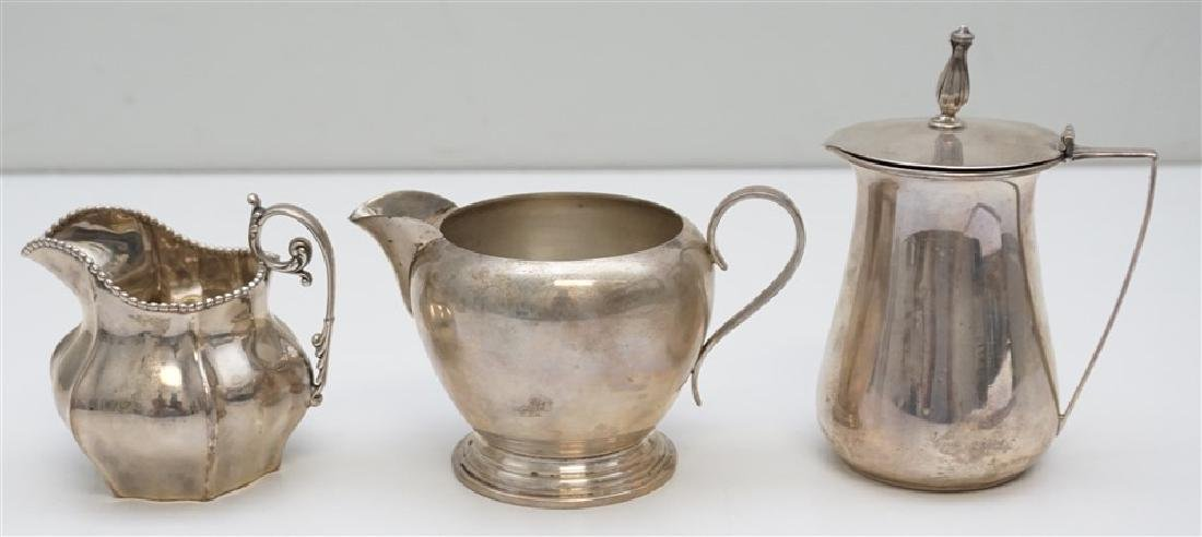 3 pc STERLING SYRUP JUG & CREAMERS