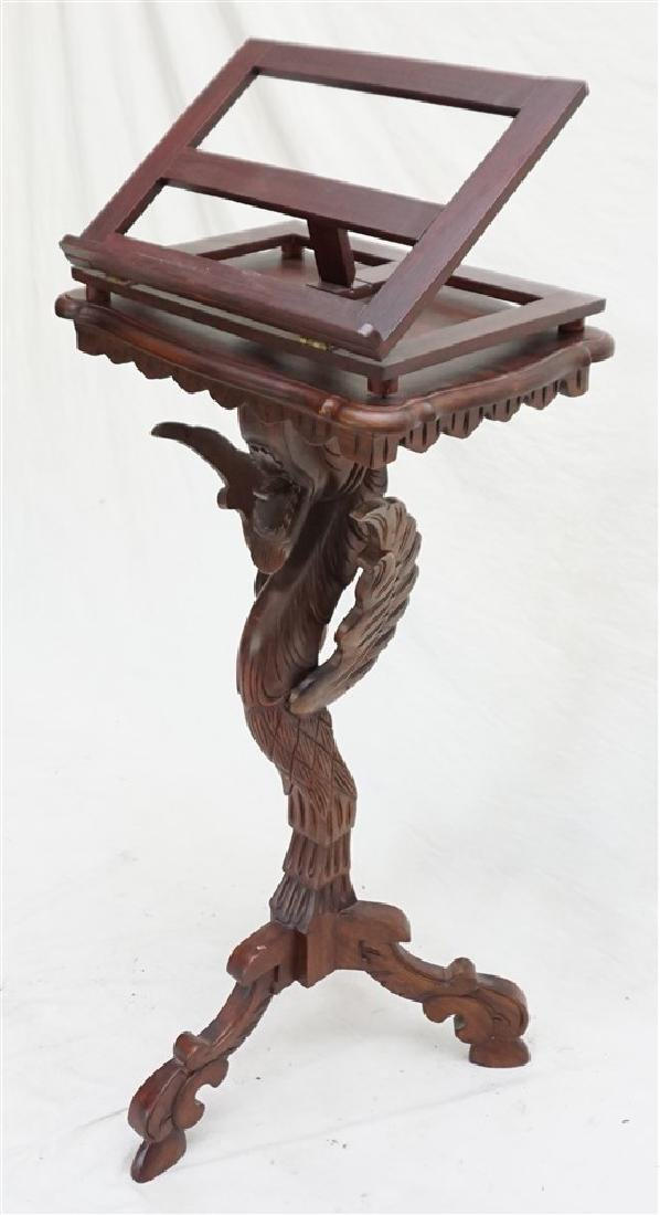 CARVED GRIFFIN BOOK STAND / LECTERN
