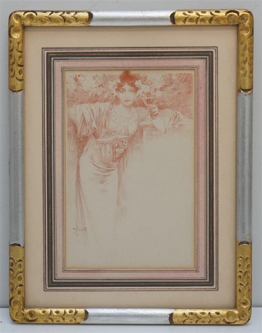 "ALPHONSE-MARIE MUCHA c. 1900 ""CHAMPAGNE"" MENU"