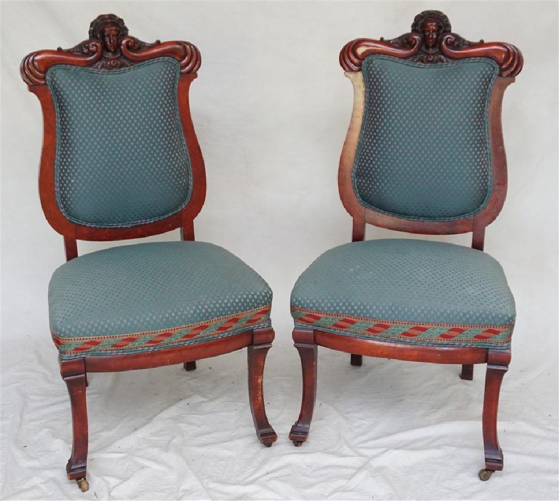 2 RENAISSANCE REVIVAL CARVED CHAIRS