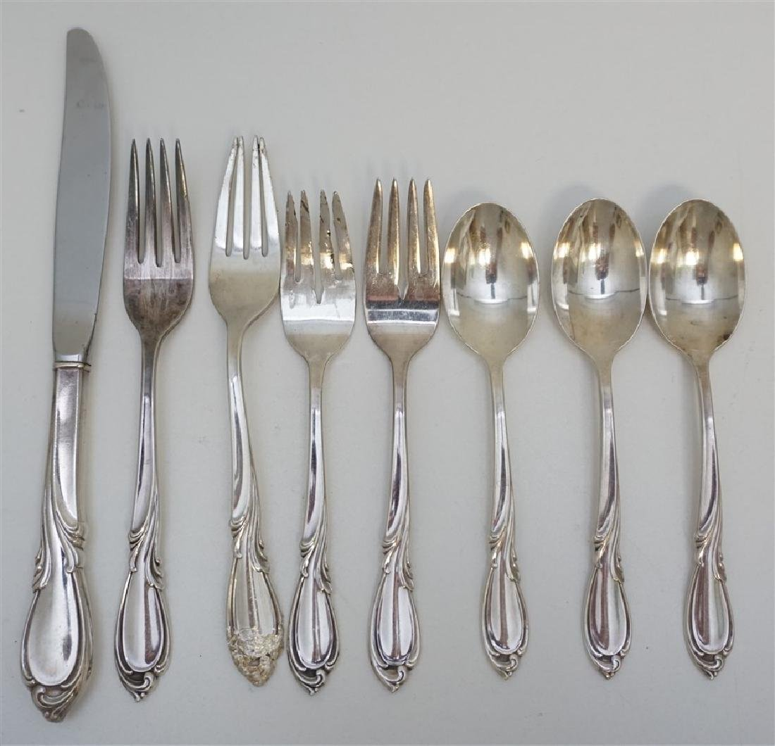 8pc STERLING SILVER RHAPSODY FLATWARE