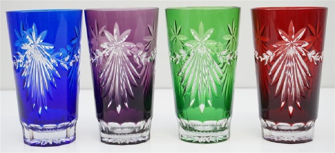 4 AJKA HIGHBALL TOM COLLINS GLASSES