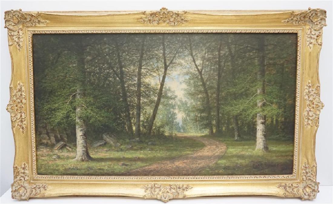 CARL C BRENNER (1838-1888 Louisville, KY) LANDSCAPE