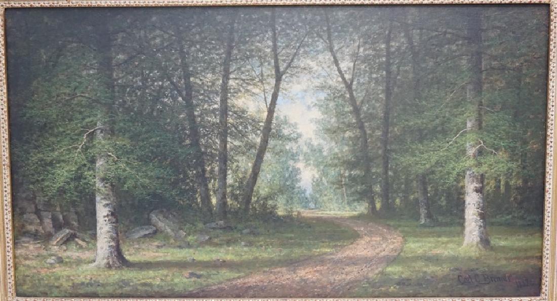 CARL C BRENNER (1838-1888 Louisville, KY) LANDSCAPE - 2
