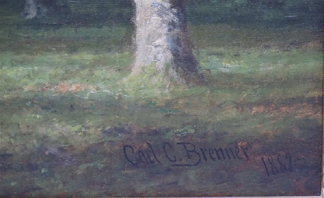 CARL C BRENNER (1838-1888 Louisville, KY) LANDSCAPE - 3