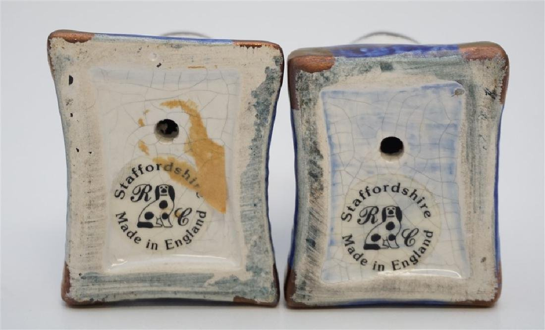 PAIR SEATED STAFFORDSHIRE CATS - 6