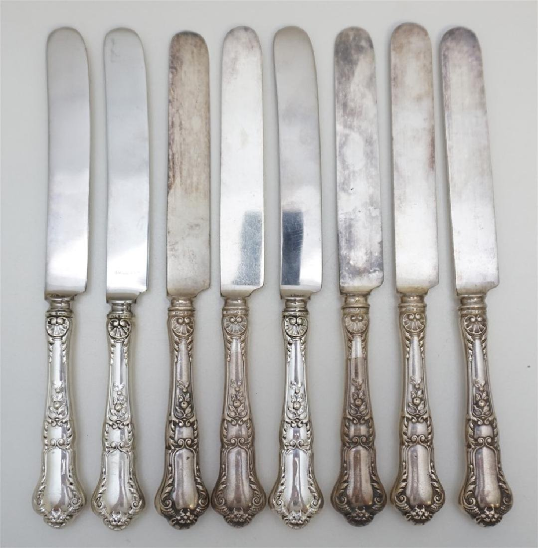 8 STERLING 1898 GORHAM OLD BARONIAL KNIVES
