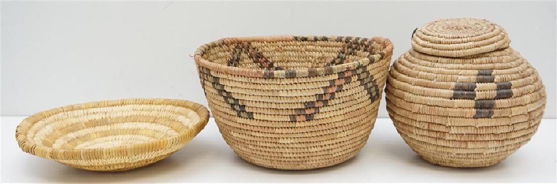 3 CALIFORNIA NATIVE AMERICAN BASKETS