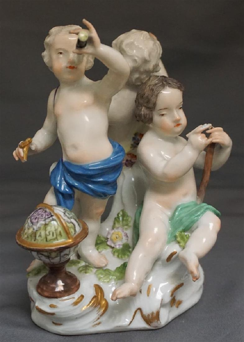 MEISSEN PORCELAIN GROUPING OF CHERUBS