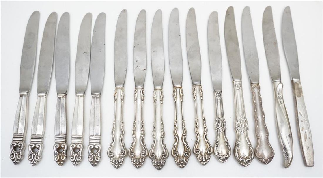15 pc STERLING DINNER KNIVES