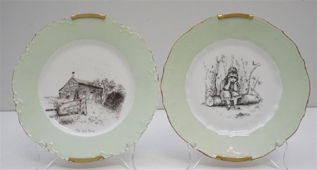 PAIR HAVILAND LIMOGES 1902 PLATES