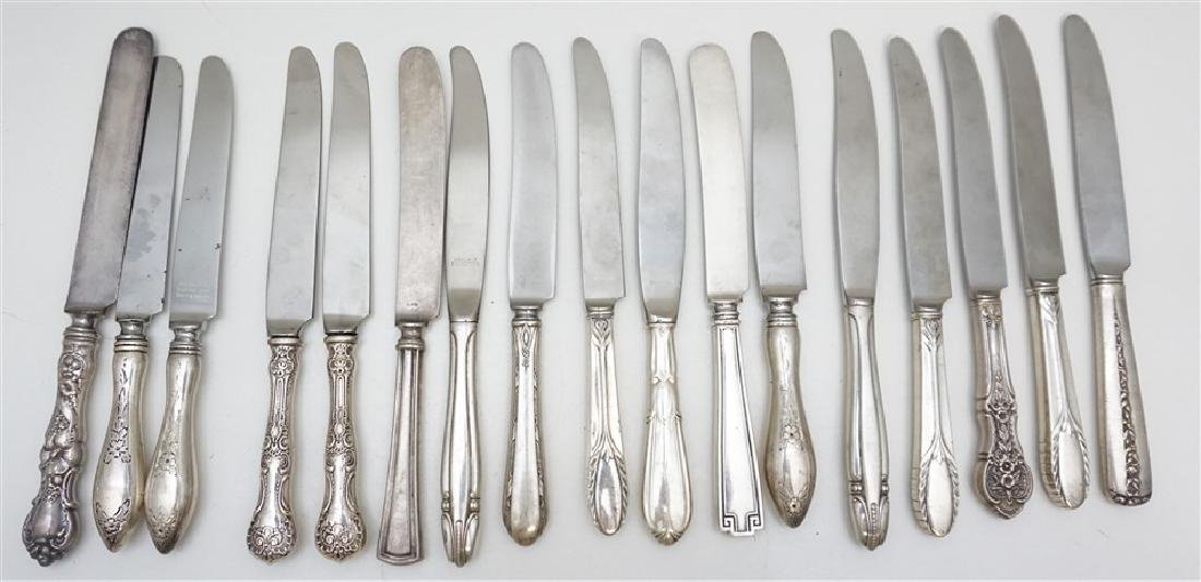 17 pc STERLING DINNER KNIVES