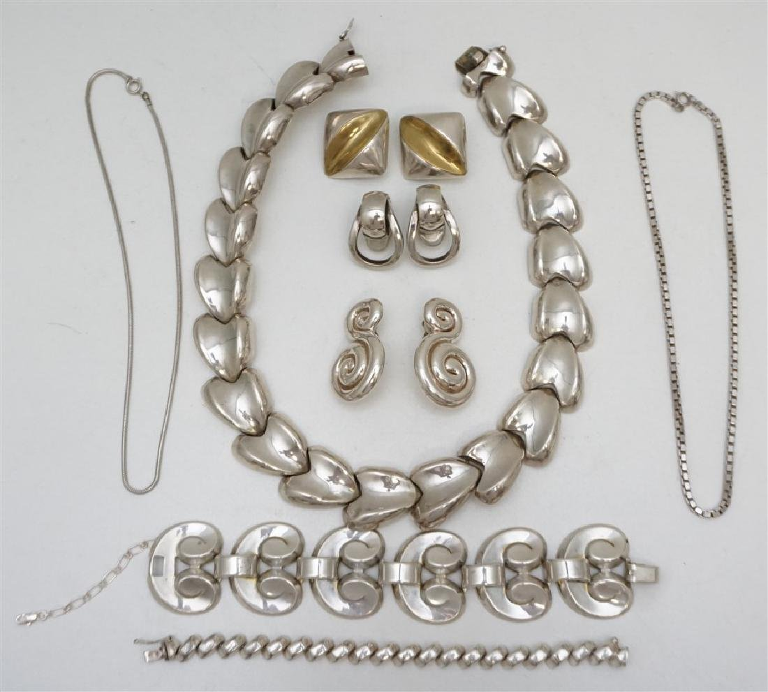 8 pc VINTAGE LARGE STERLING JEWELRY