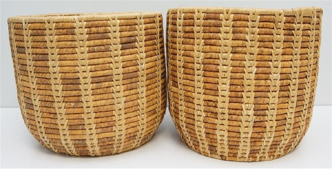 2 HAND WOVEN SWEETGRASS BASKETS