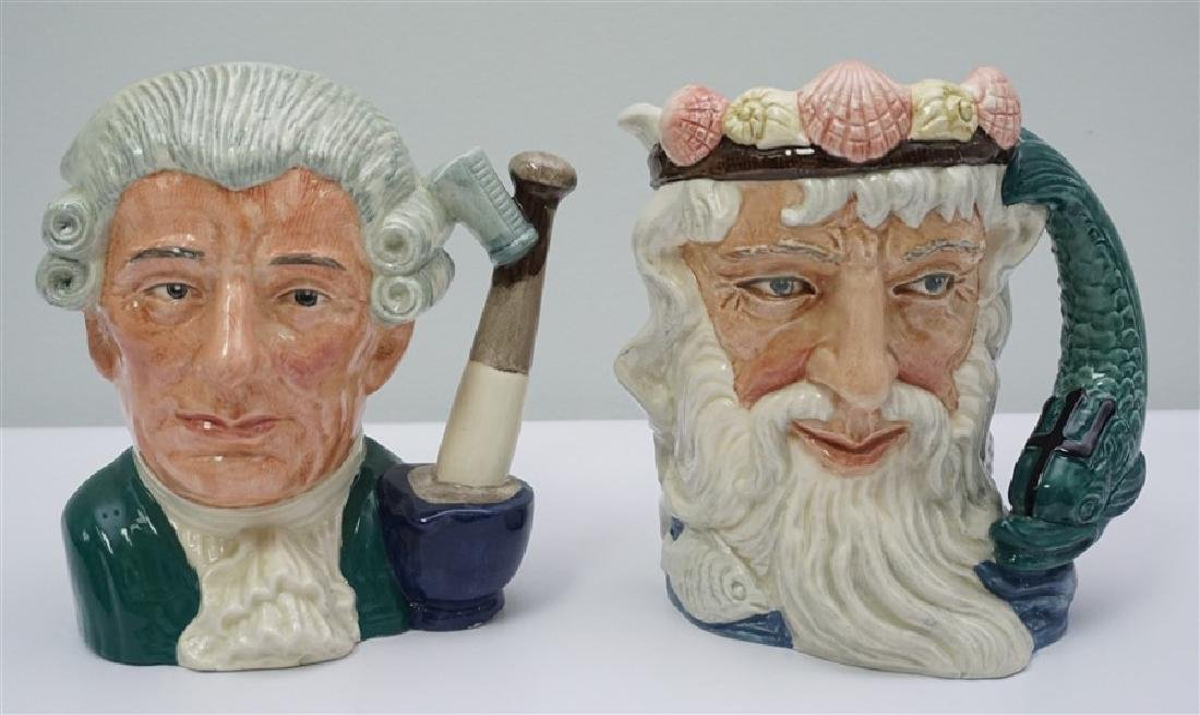 2 TOBY MUGS NEPTUNE & APOTHECARY