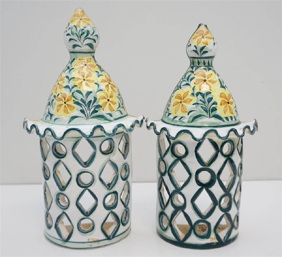 LARGE PORTUGAL POTTERY SCONCES