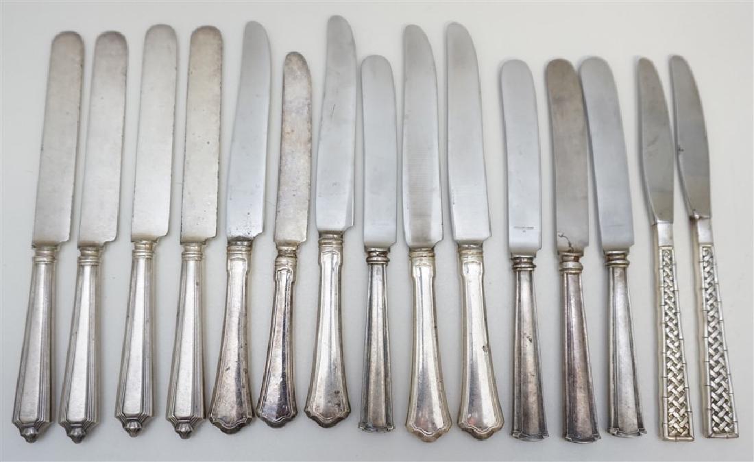 15 STERLING SILVER DINNER KNIVES