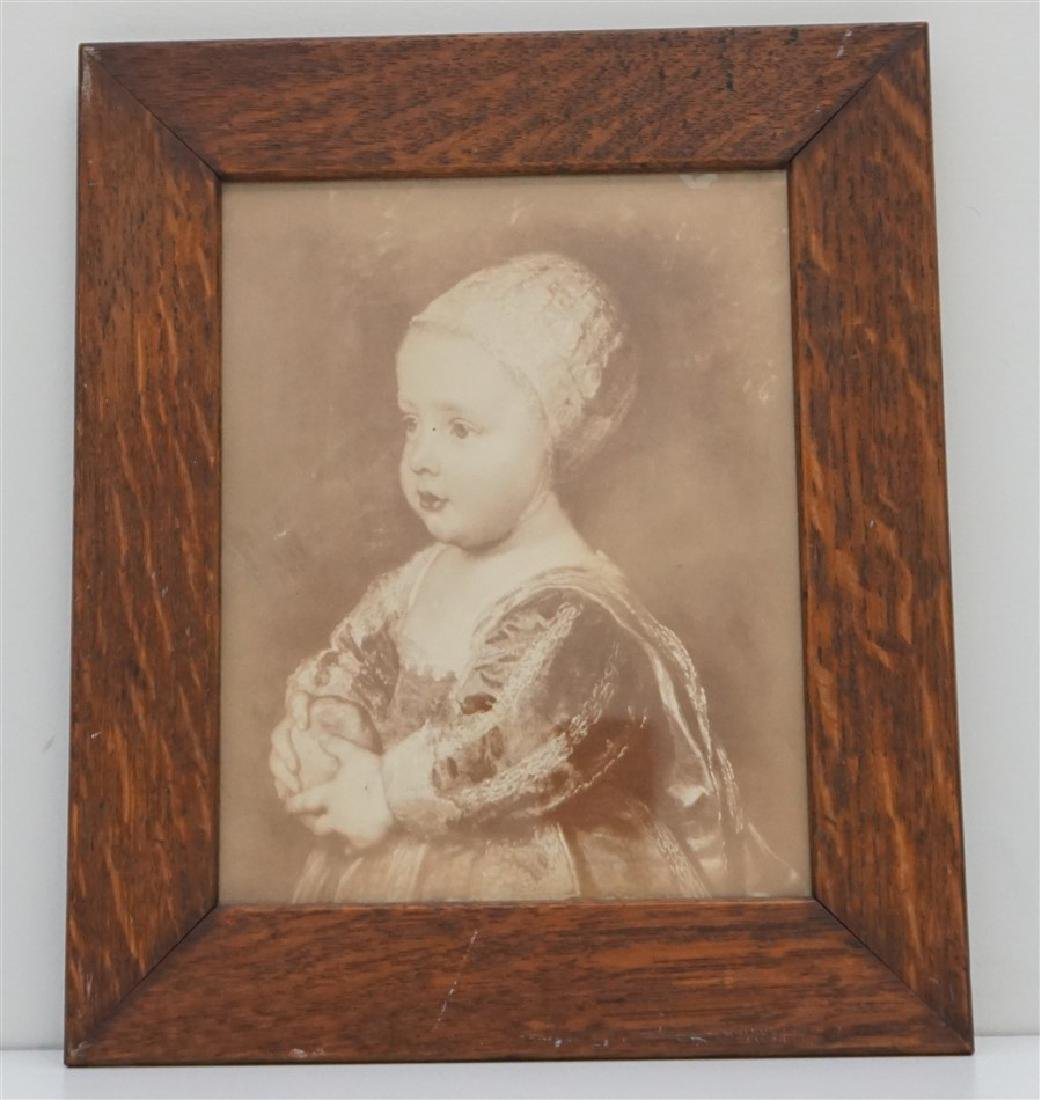 OAK FRAMED SEPIA POTATO CHILD