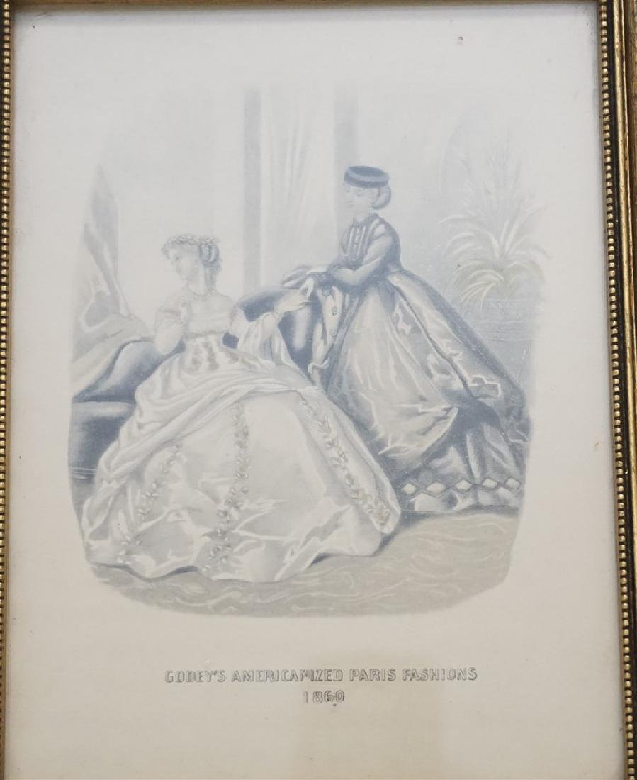 PAIR OF FRAMED GODEY'S FASHION PRINTS - 2