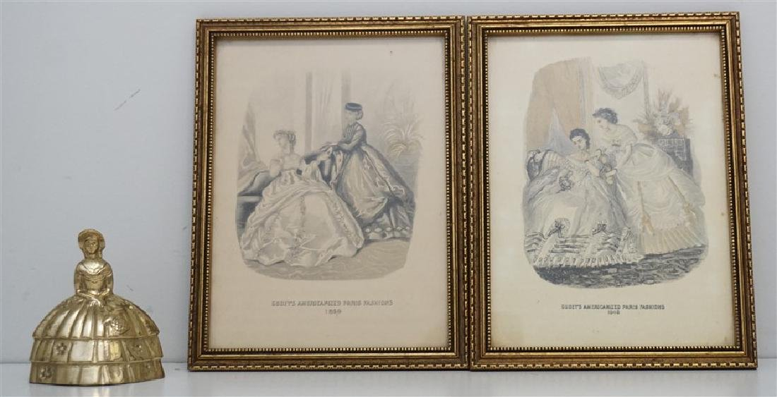 PAIR OF FRAMED GODEY'S FASHION PRINTS - 4