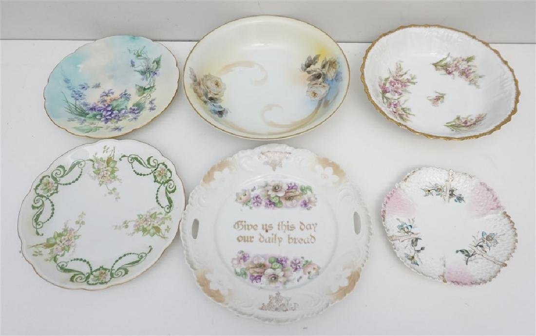 6 LIMOGES & GERMAN PORCELAIN PLATES