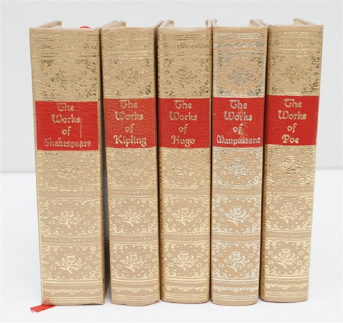 5 1940S BOOKS POE - HUGO - KIPLING +
