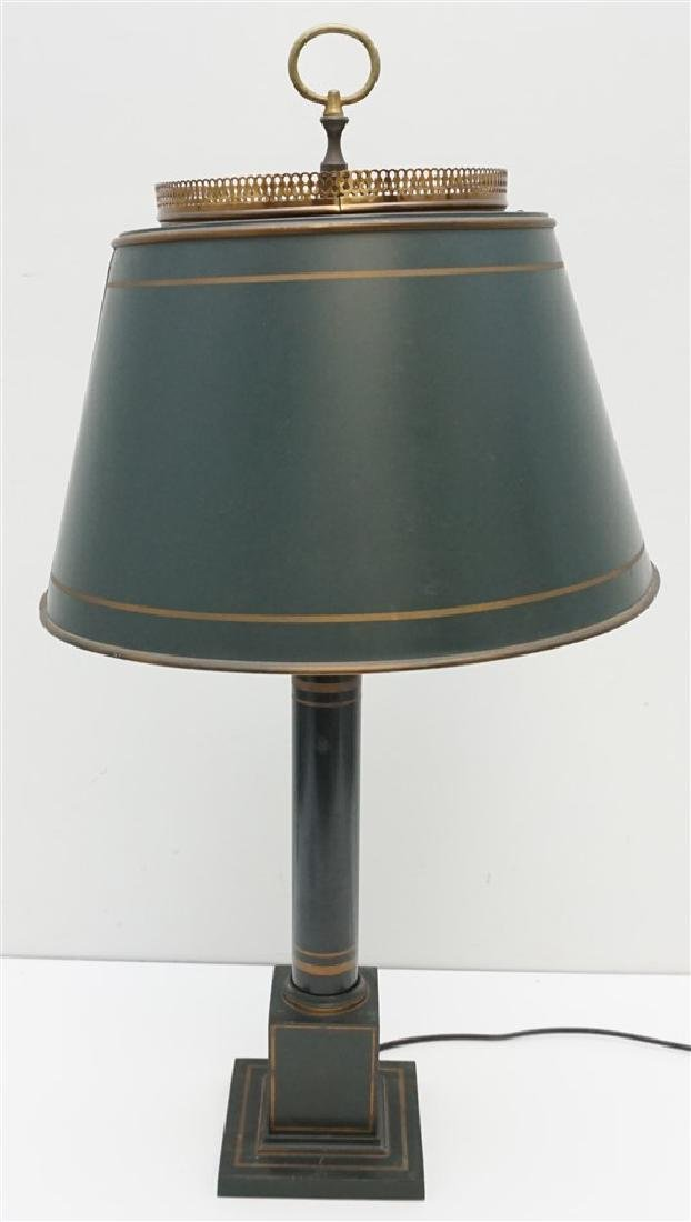 VINTAGE GREEN TOLE LAMP