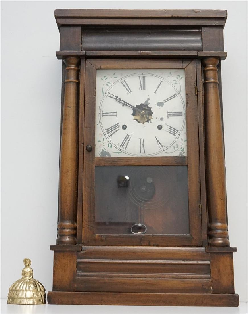 ANTIQUE AMERICAN OGEE CLOCK - 5