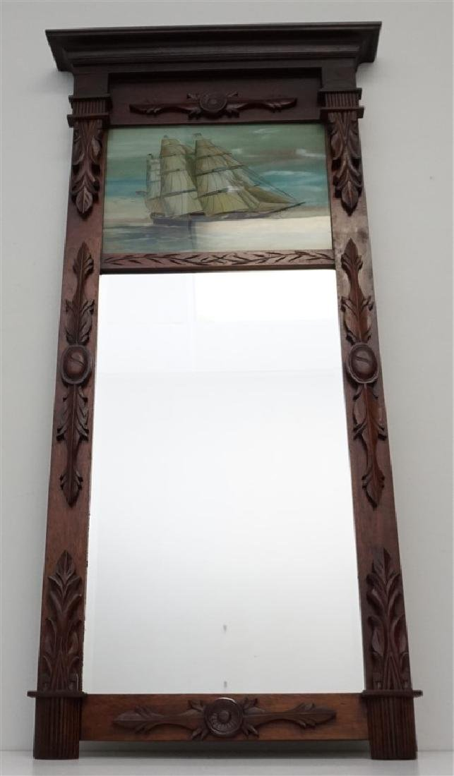 REVERSE PAINTED MIRROR - CLIPPER SHIP