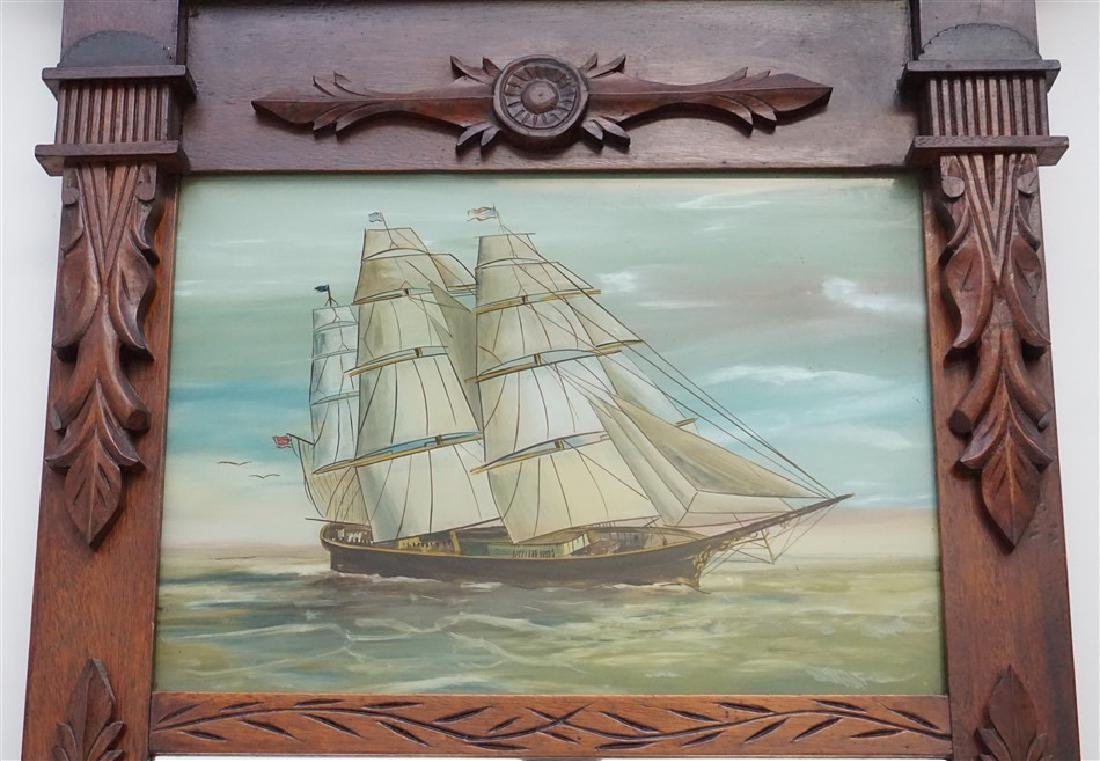 REVERSE PAINTED MIRROR - CLIPPER SHIP - 2
