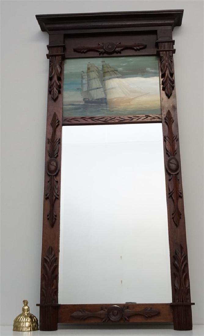REVERSE PAINTED MIRROR - CLIPPER SHIP - 5